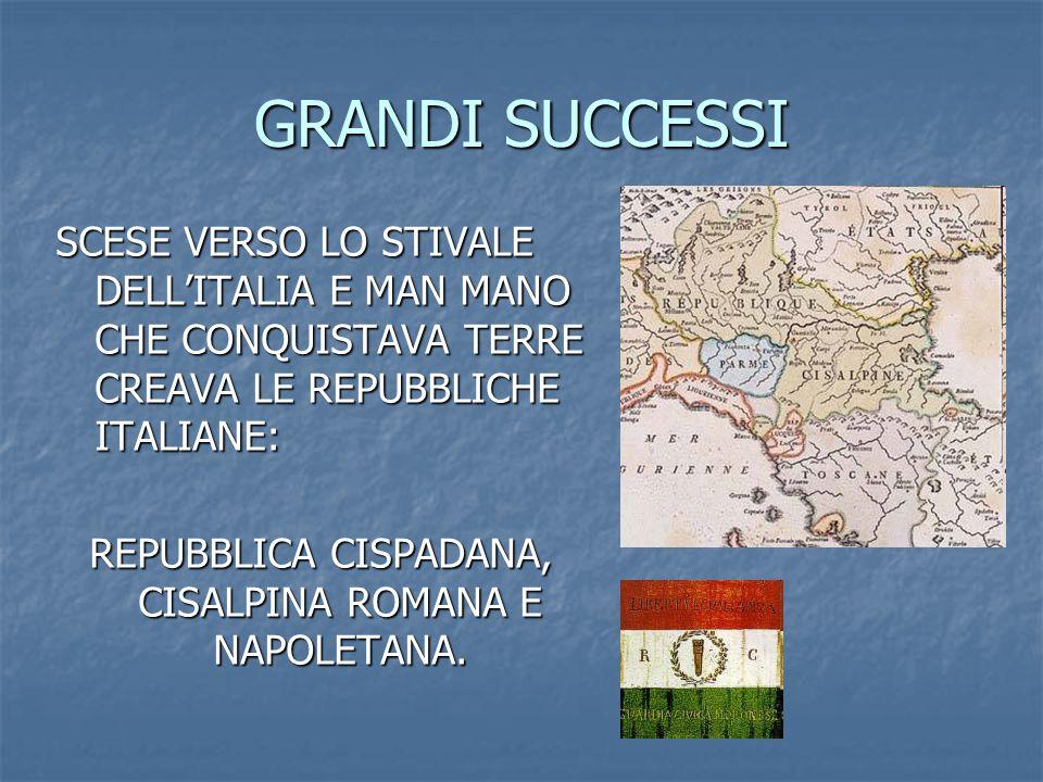 REPUBBLICA CISPADANA, CISALPINA ROMANA E NAPOLETANA.