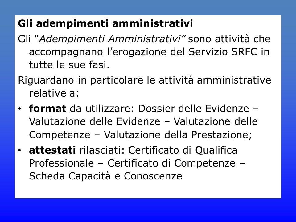 Gli adempimenti amministrativi