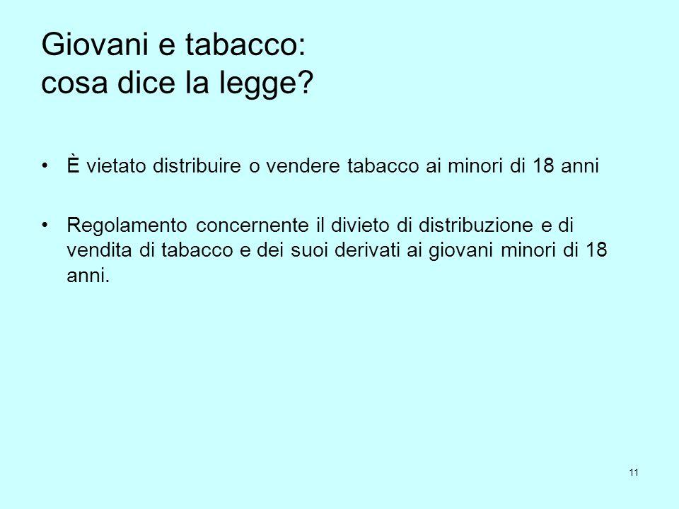 Giovani e tabacco: cosa dice la legge