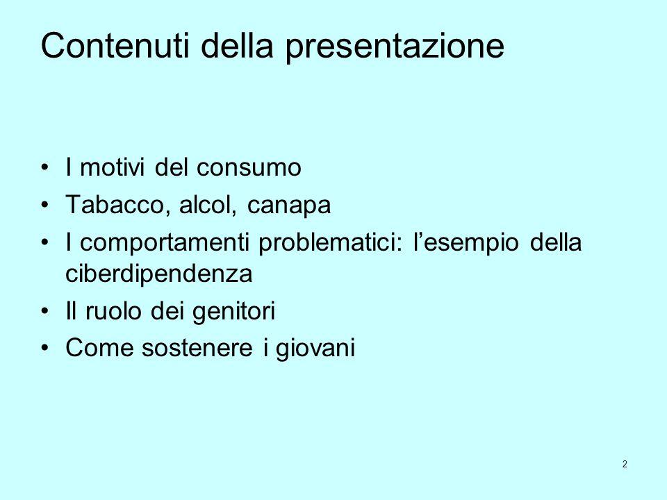 Contenuti della presentazione