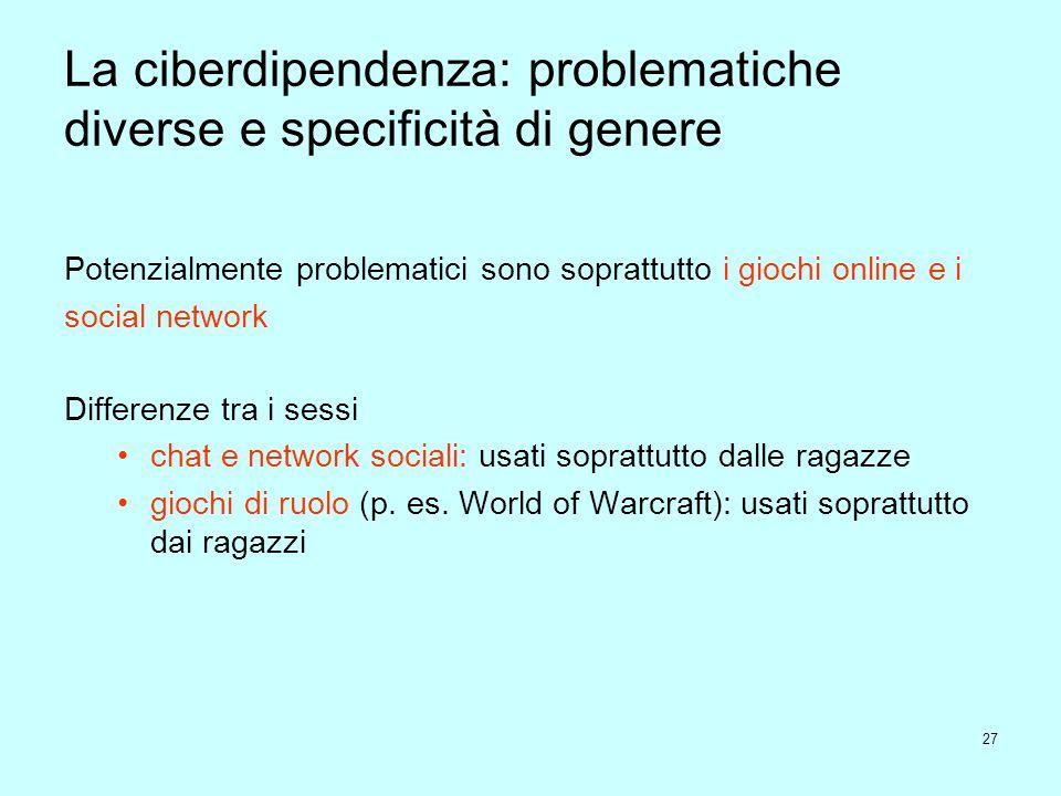 La ciberdipendenza: problematiche diverse e specificità di genere