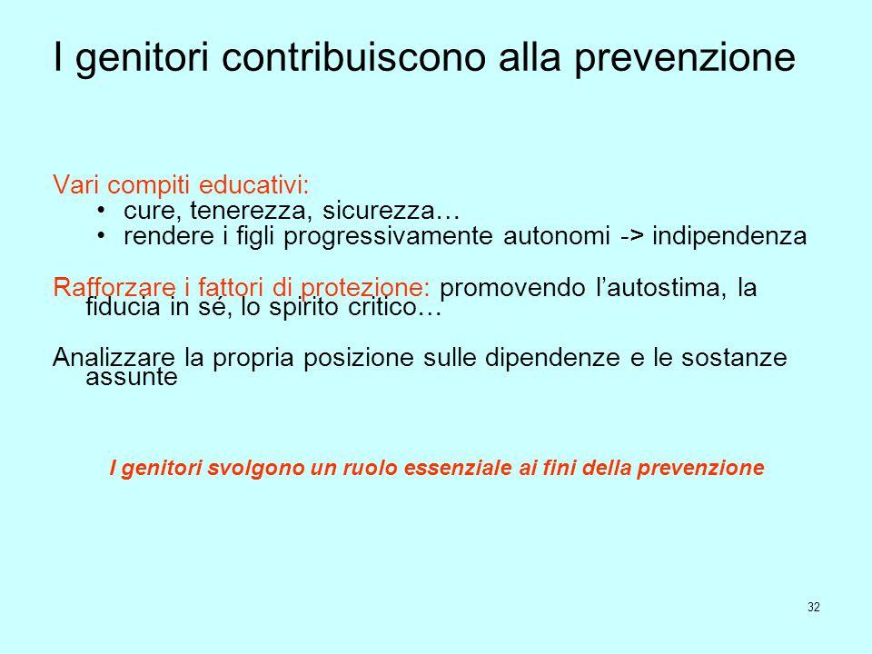 I genitori contribuiscono alla prevenzione
