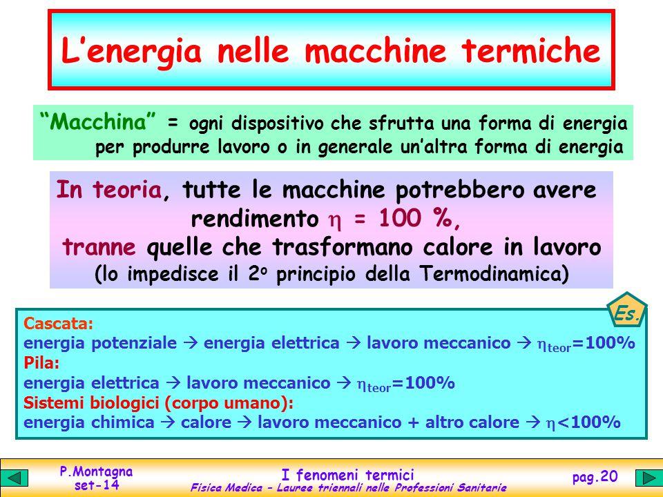 L'energia nelle macchine termiche