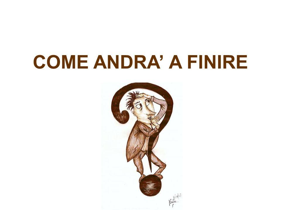 COME ANDRA' A FINIRE