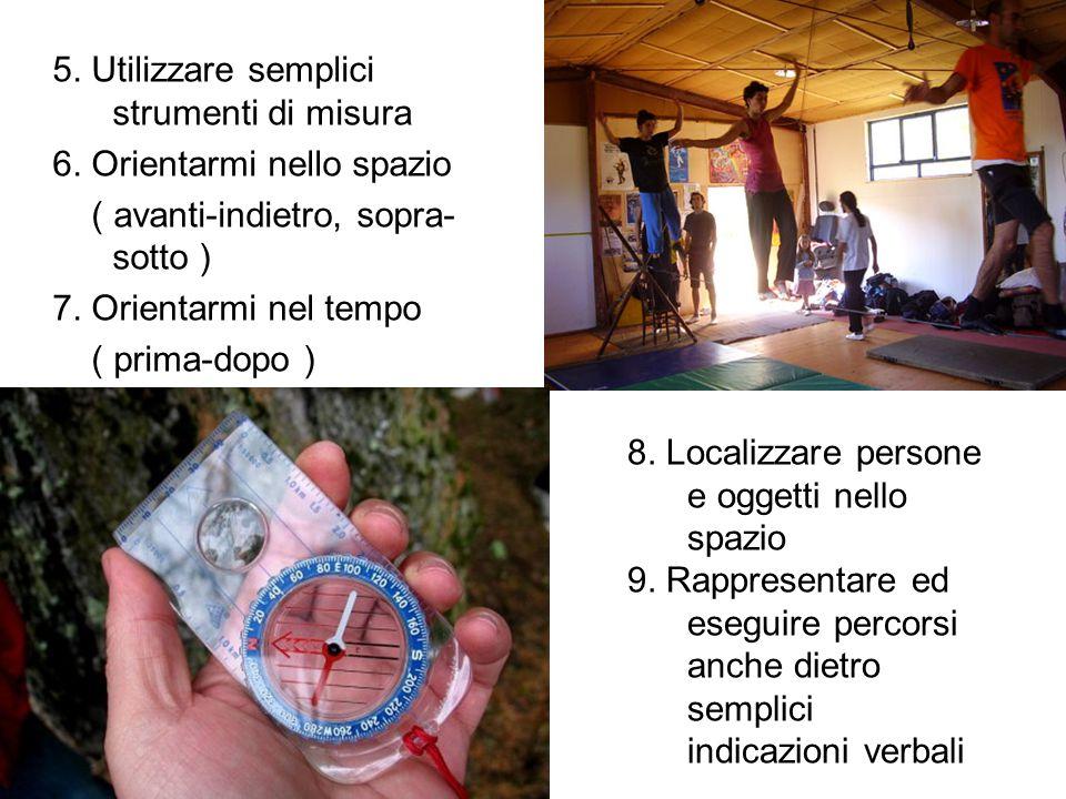 5. Utilizzare semplici strumenti di misura 6