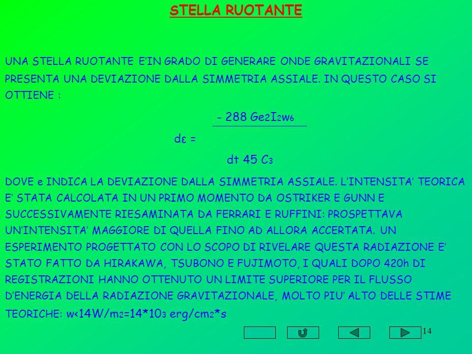 STELLA RUOTANTE dε = dt 45 C3