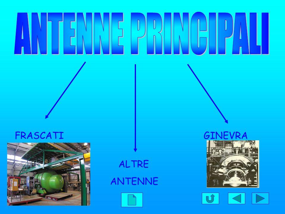 ANTENNE PRINCIPALI FRASCATI GINEVRA ANTENNE PRINCIPALI ALTRE ANTENNE