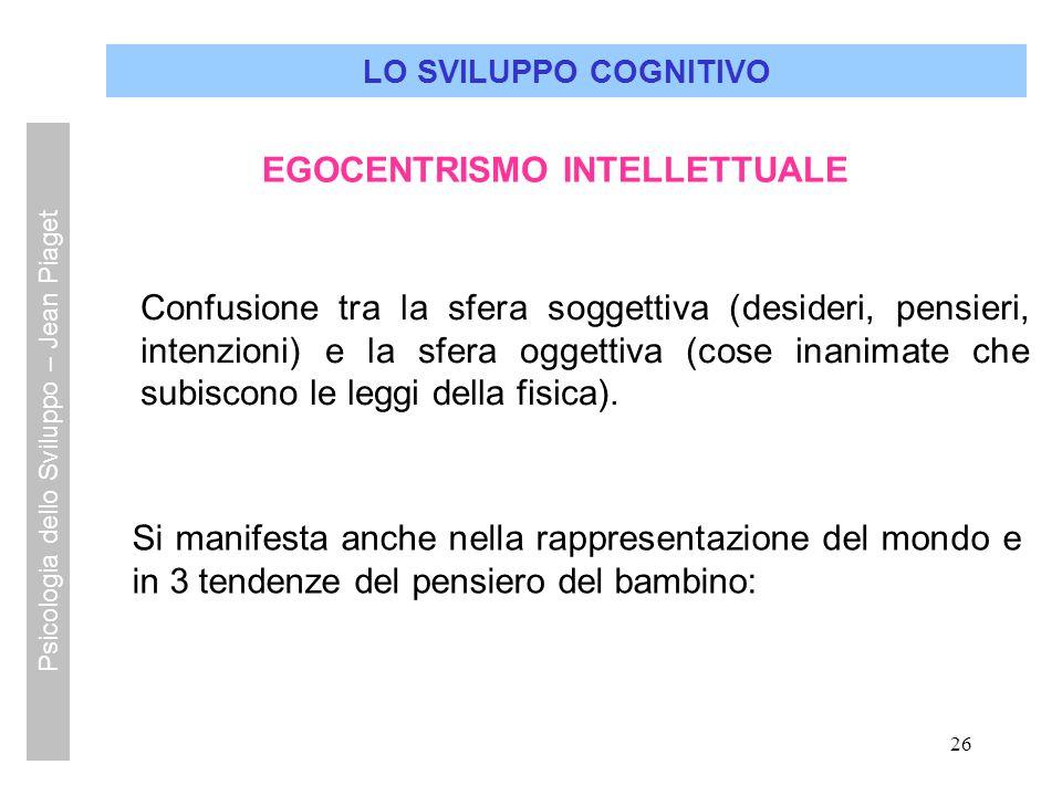 EGOCENTRISMO INTELLETTUALE