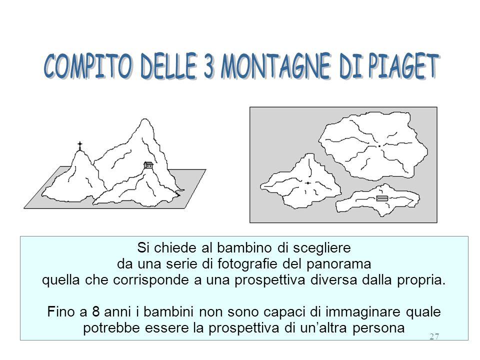 COMPITO DELLE 3 MONTAGNE DI PIAGET