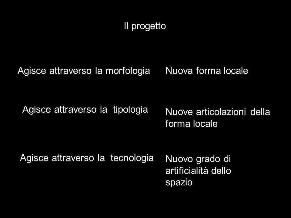 Il progetto Agisce attraverso la morfologia. Nuova forma locale. Agisce attraverso la tipologia.