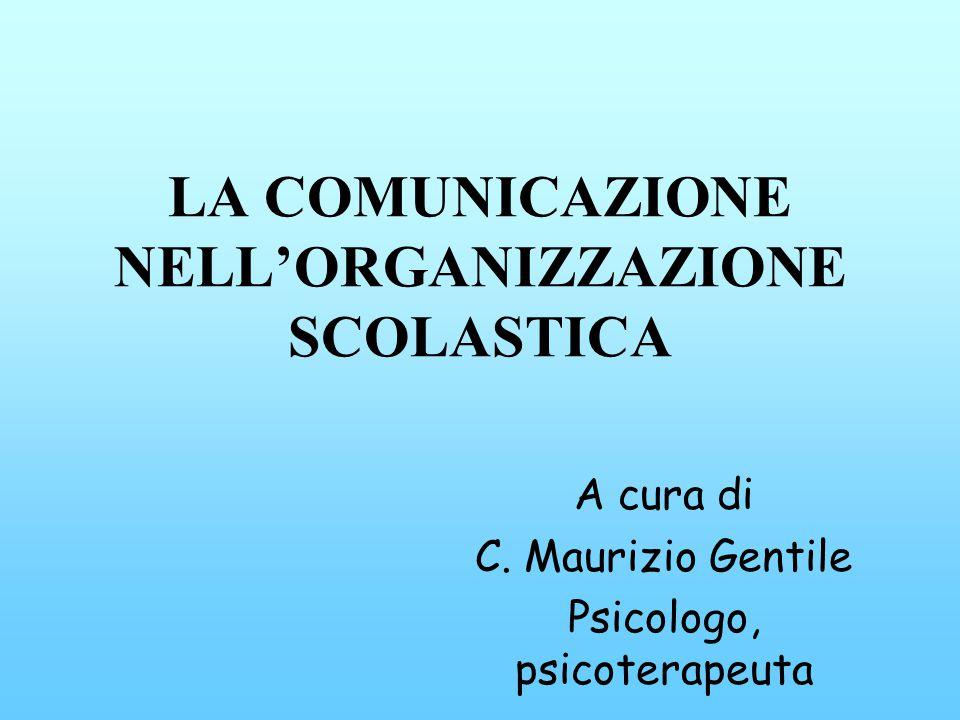 LA COMUNICAZIONE NELL'ORGANIZZAZIONE SCOLASTICA