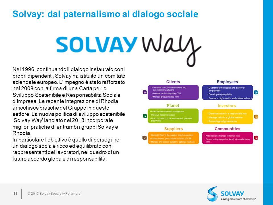 Solvay: dal paternalismo al dialogo sociale