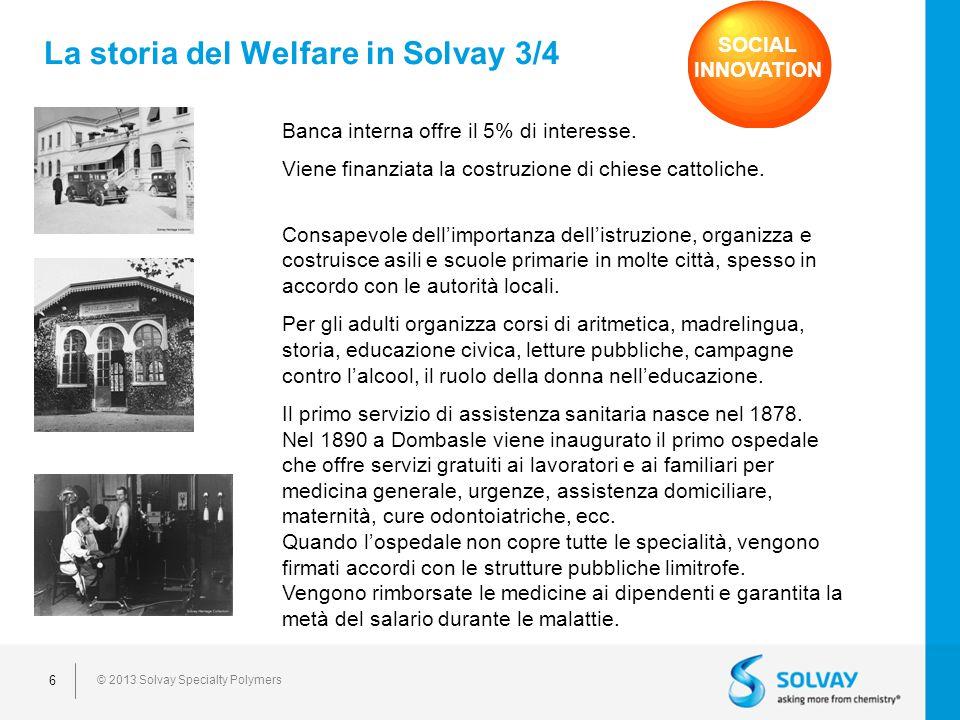 La storia del Welfare in Solvay 3/4