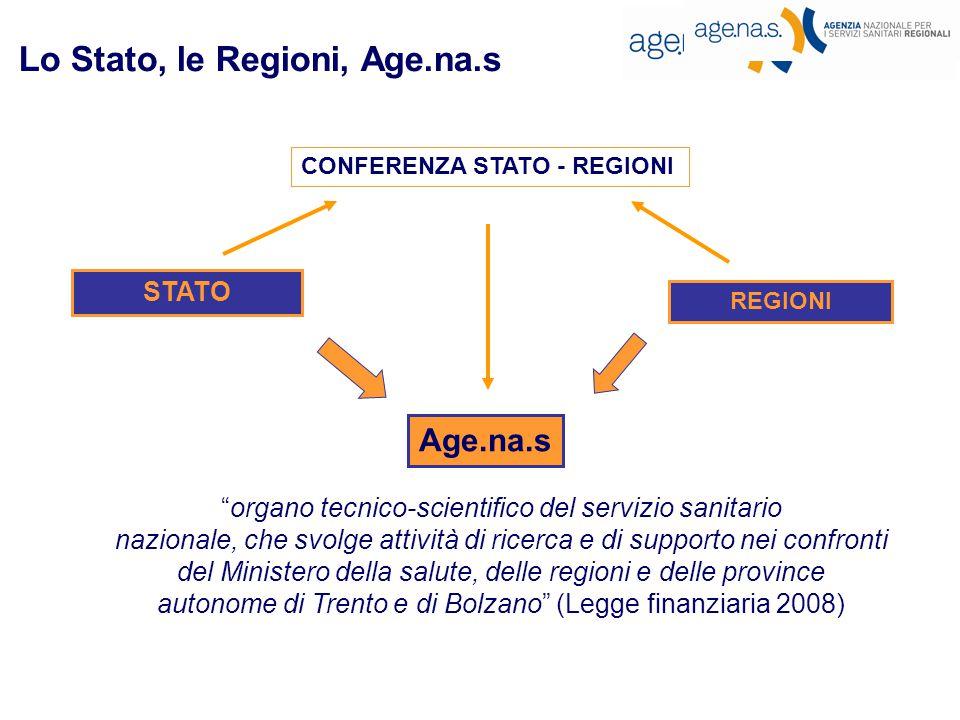 Lo Stato, le Regioni, Age.na.s