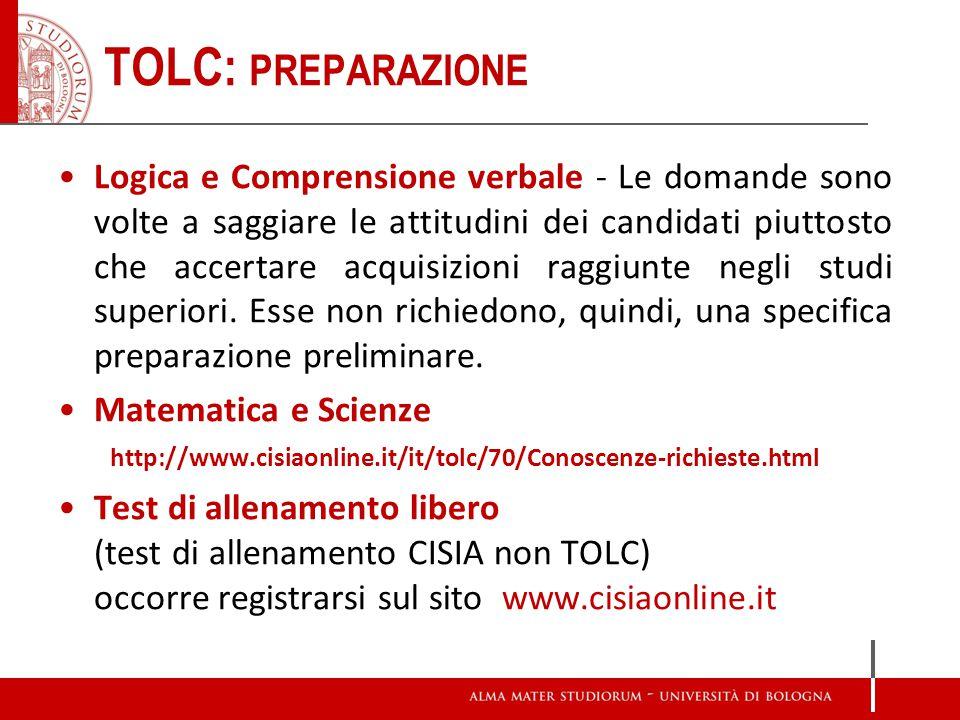 TOLC: preparazione