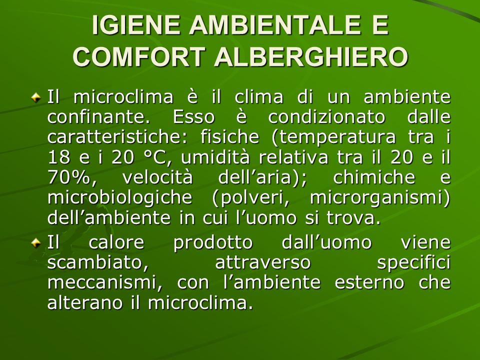 IGIENE AMBIENTALE E COMFORT ALBERGHIERO