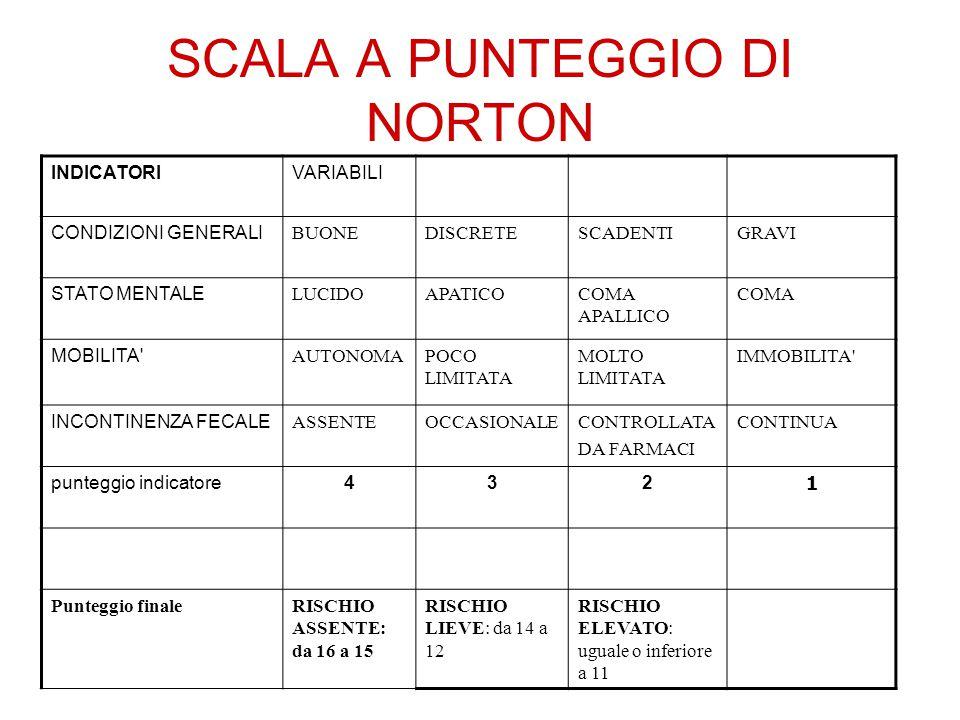 SCALA A PUNTEGGIO DI NORTON