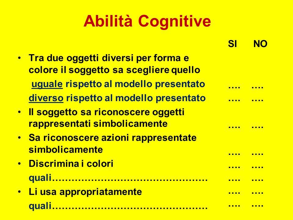Abilità Cognitive SI NO