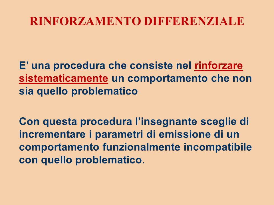 RINFORZAMENTO DIFFERENZIALE