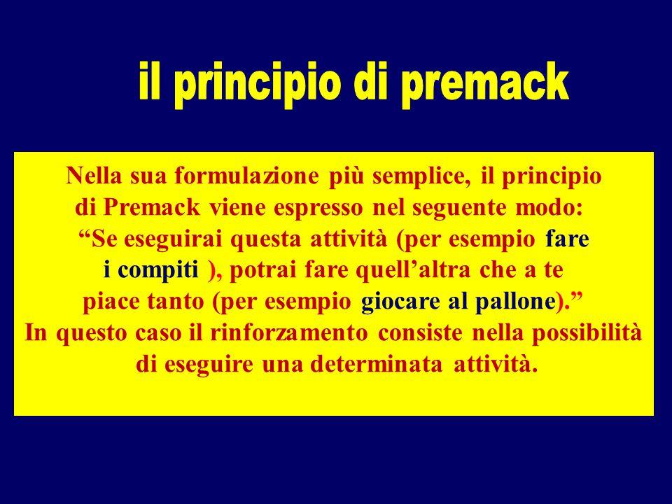 il principio di premack