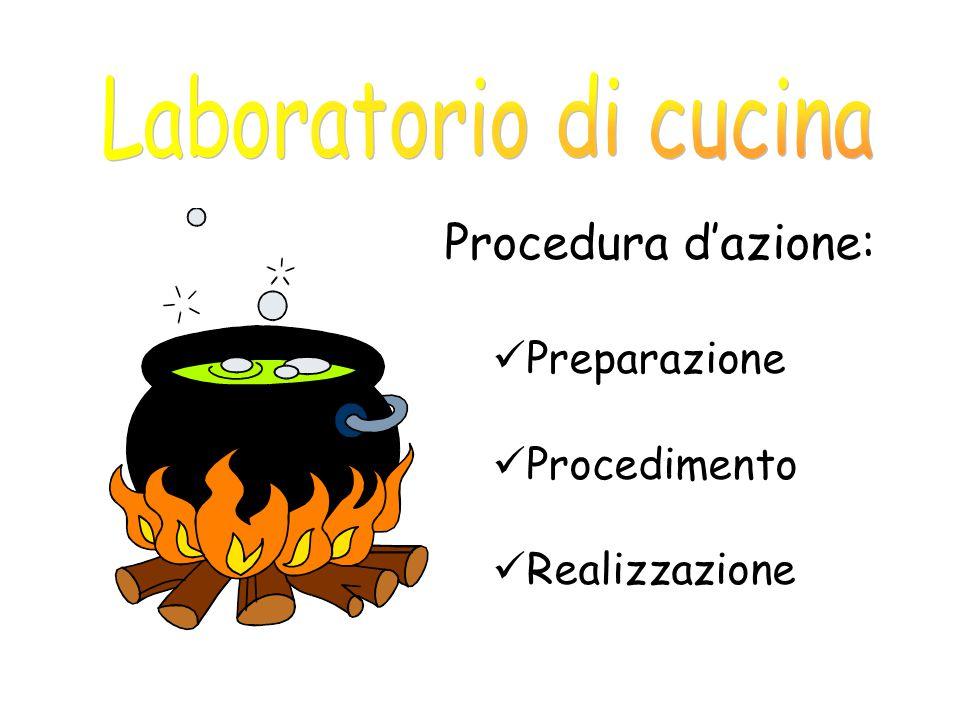 Laboratorio di cucina Procedura d'azione: Preparazione Procedimento