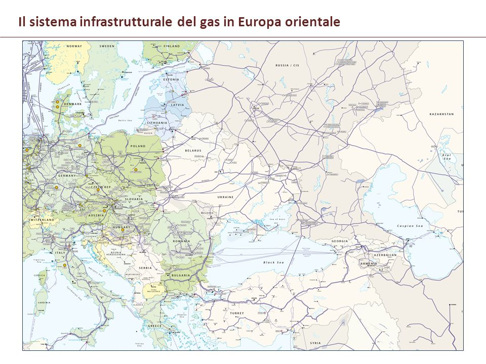 Il sistema infrastrutturale del gas in Europa orientale