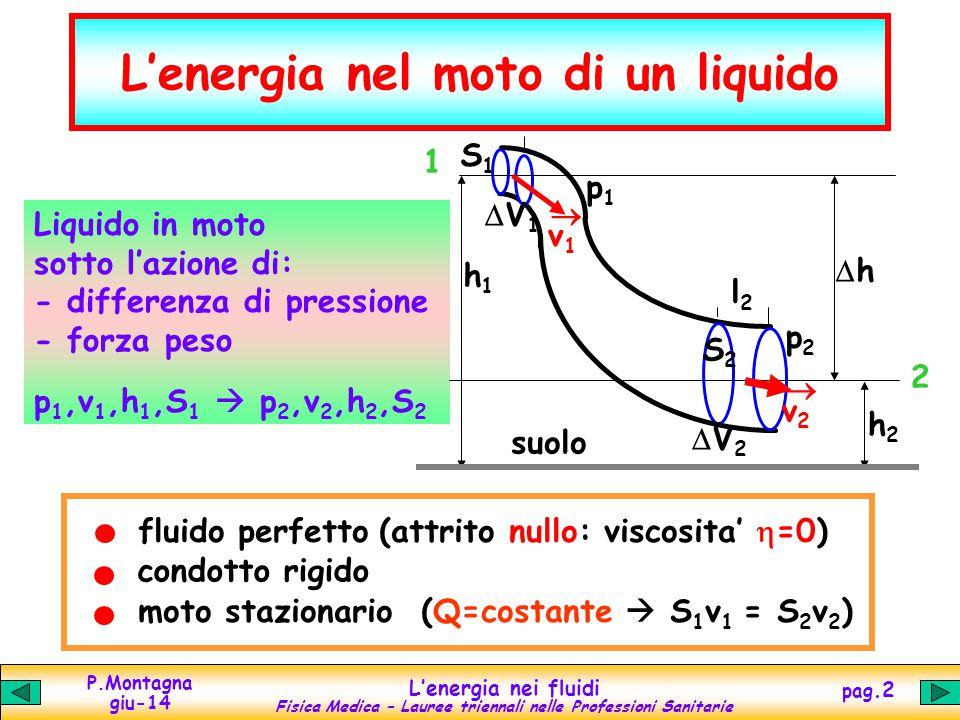 L'energia nel moto di un liquido