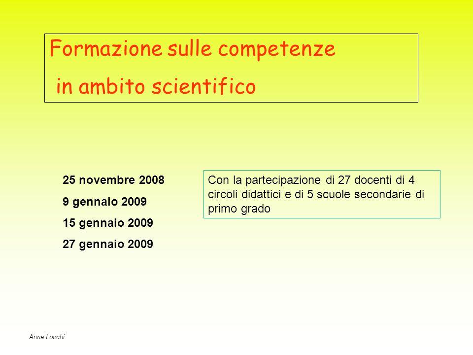 Formazione sulle competenze in ambito scientifico