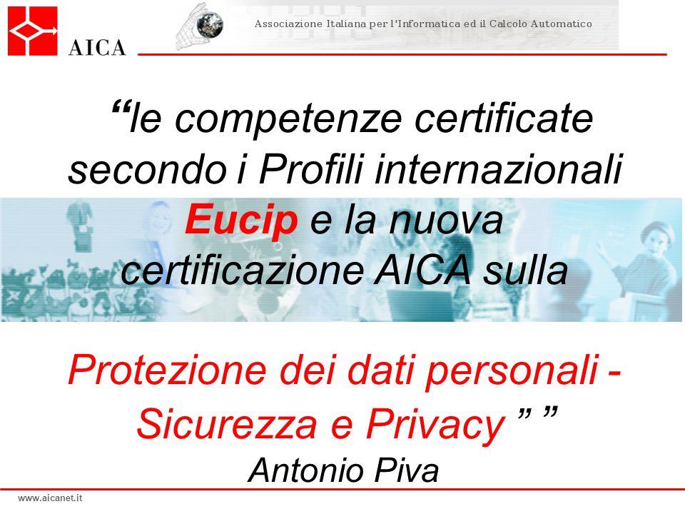 Protezione dei dati personali - Sicurezza e Privacy