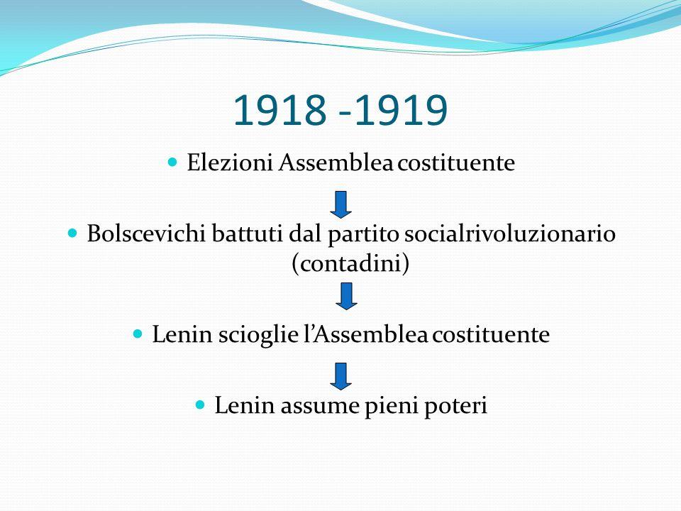 1918 -1919 Elezioni Assemblea costituente