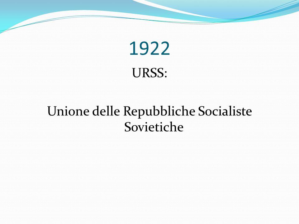 Unione delle Repubbliche Socialiste Sovietiche