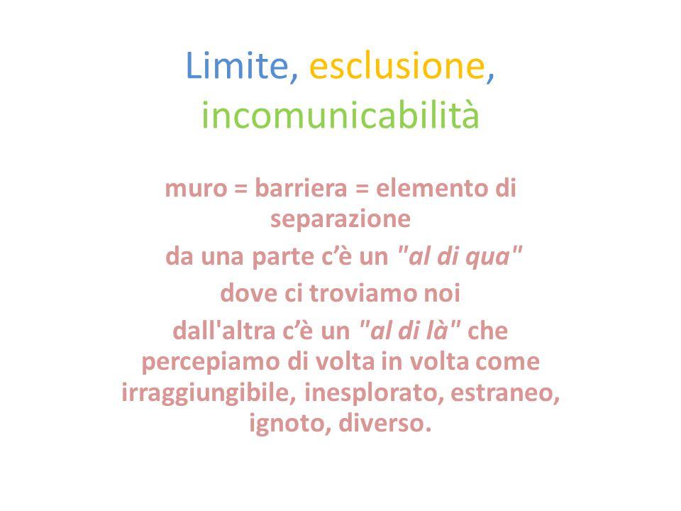 Limite, esclusione, incomunicabilità