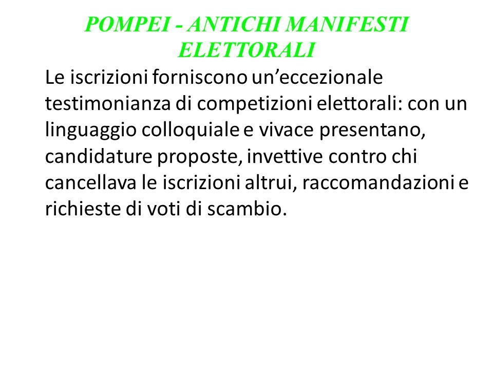 POMPEI - ANTICHI MANIFESTI ELETTORALI