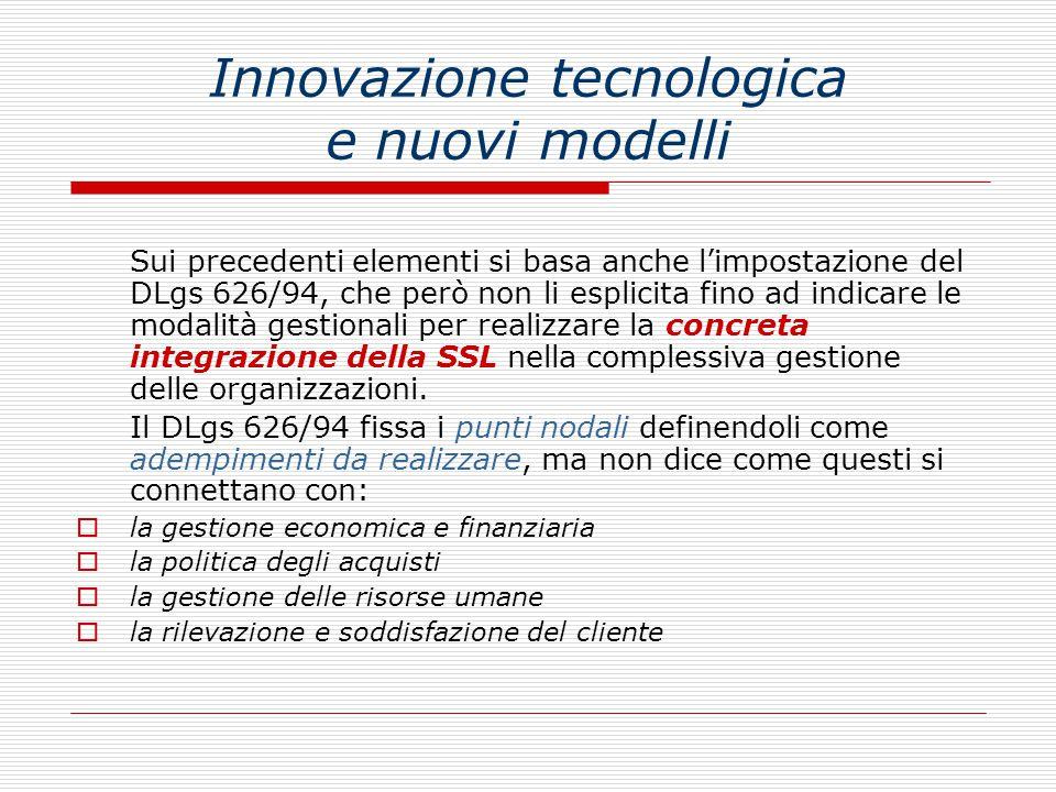 Innovazione tecnologica e nuovi modelli