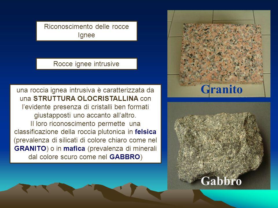 Riconoscimento delle rocce Ignee