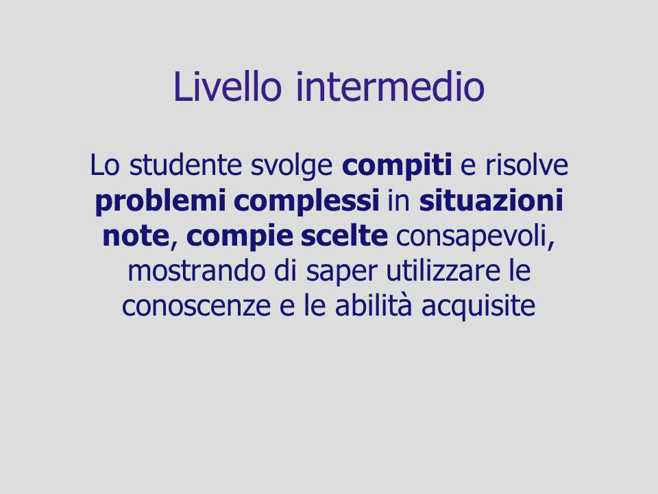 Livello intermedio