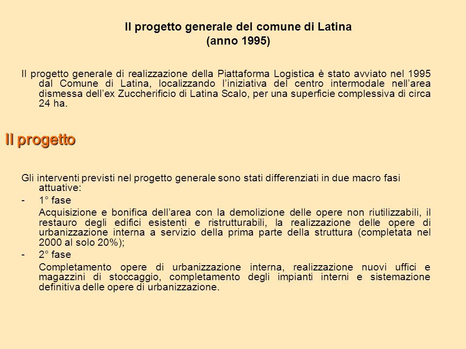 Il progetto generale del comune di Latina (anno 1995)