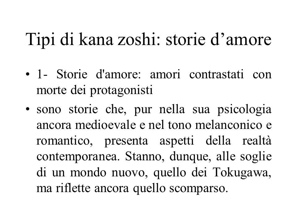 Tipi di kana zoshi: storie d'amore