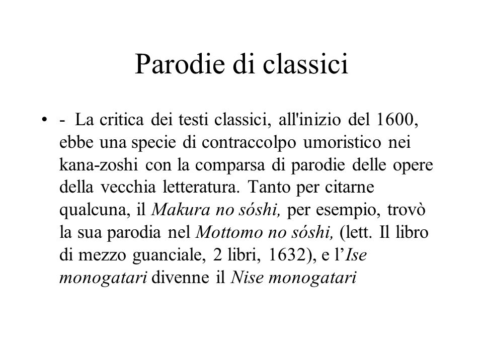 Parodie di classici
