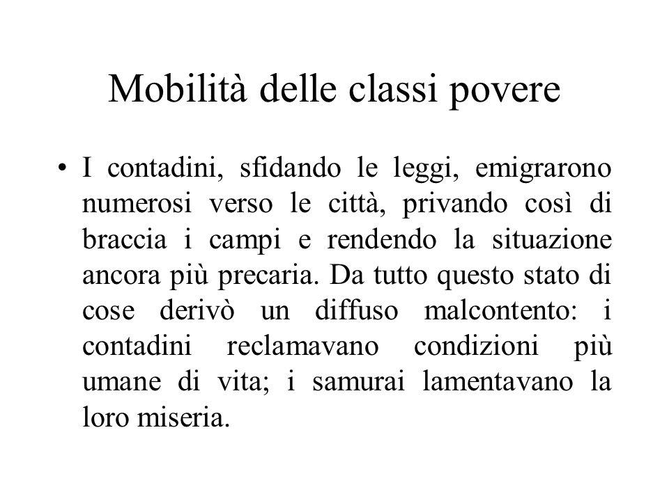Mobilità delle classi povere