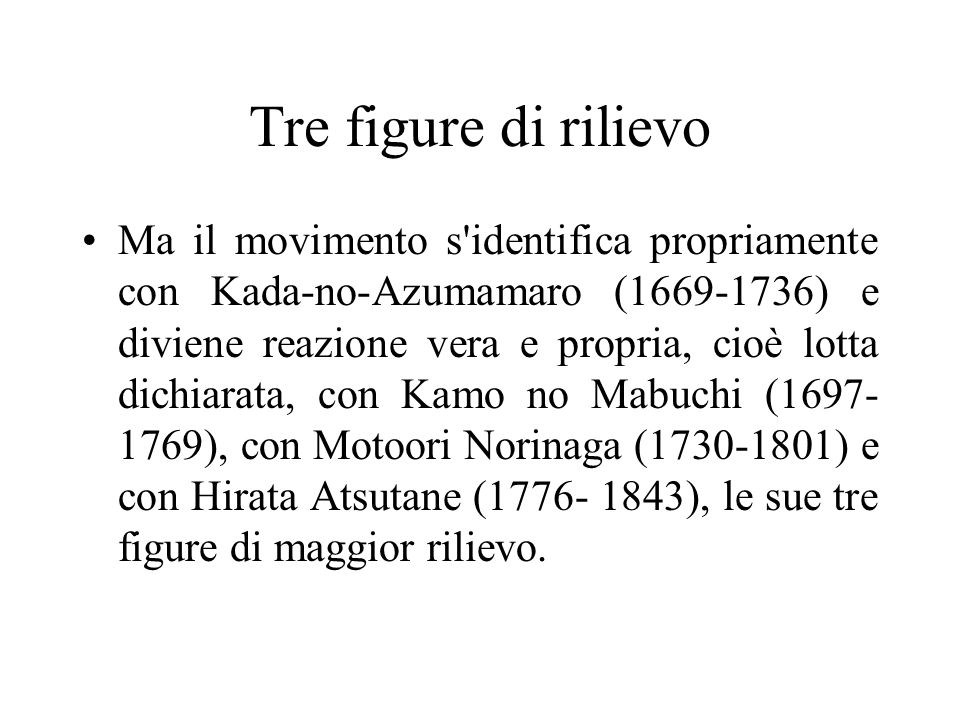 Tre figure di rilievo