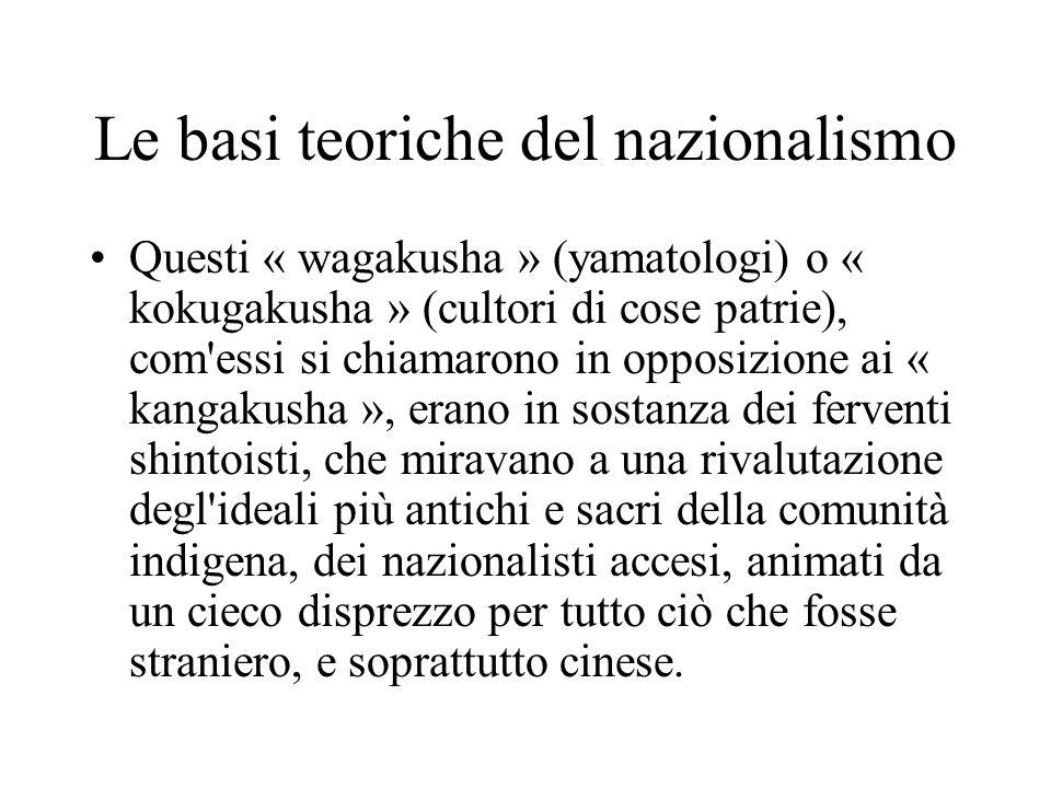 Le basi teoriche del nazionalismo