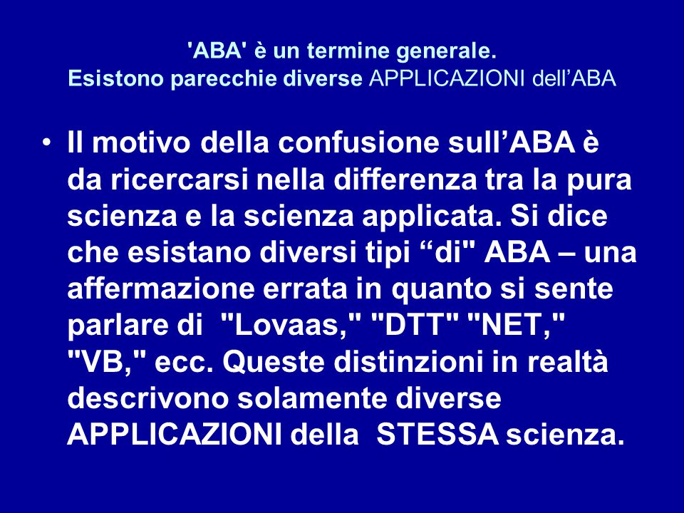 ABA è un termine generale