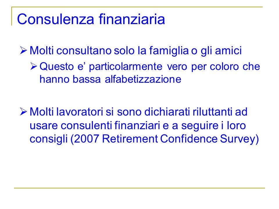 Consulenza finanziaria