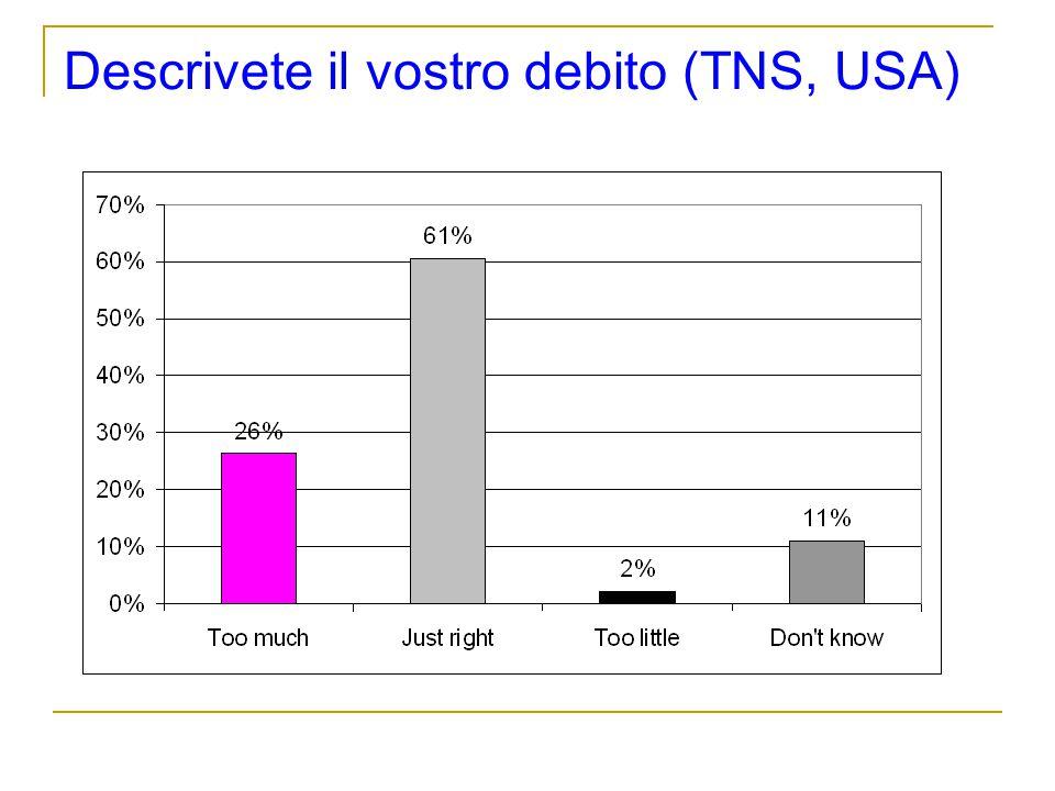 Descrivete il vostro debito (TNS, USA)