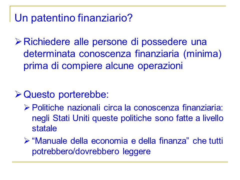 Un patentino finanziario