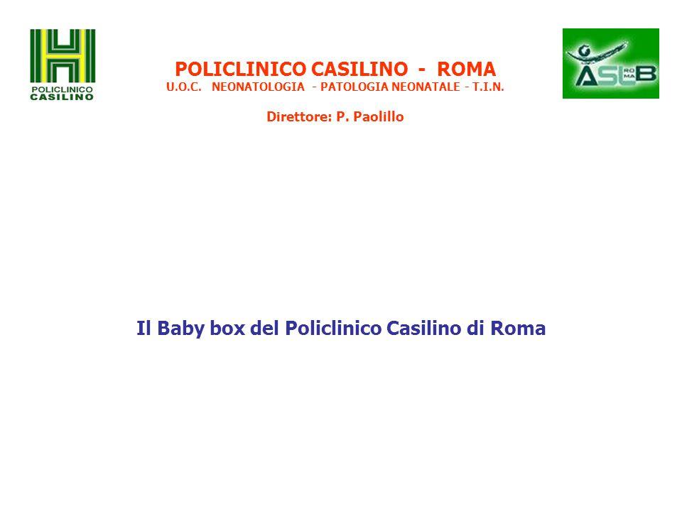 Il Baby box del Policlinico Casilino di Roma