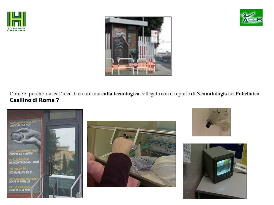 Come e perché nasce l'idea di creare una culla tecnologica collegata con il reparto di Neonatologia nel Policlinico Casilino di Roma
