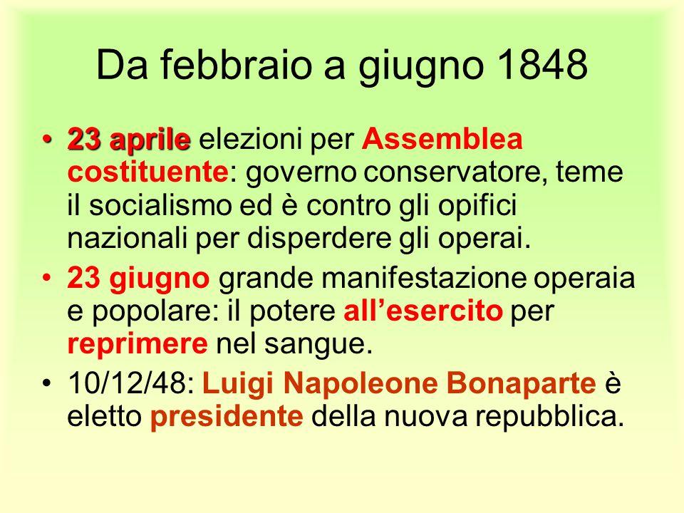Da febbraio a giugno 1848