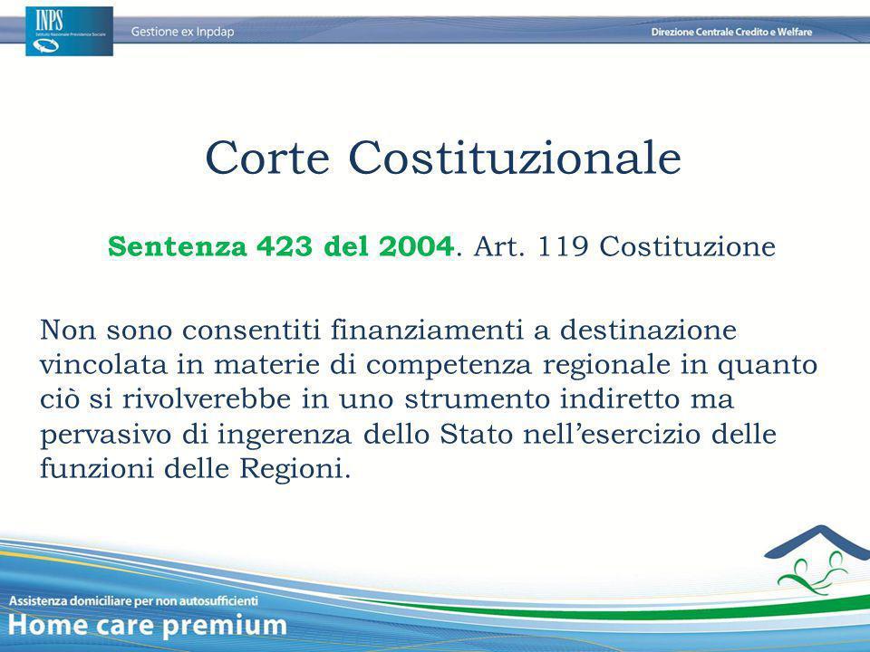 Sentenza 423 del 2004. Art. 119 Costituzione